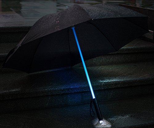 Bestkee-LED-Lightsaber-Umbrella-Laser-sword-Light-up-Golf-Umbrellas-with-7-Color-Changing-On-the-Shaft-Built-in-Torch-at-Bottom-Black-0-0
