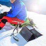 Cargador solar plegable para alta montaña