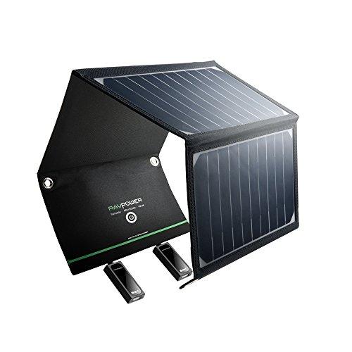 RAVPower-Cargador-Panel-Solar-16W-Dual-USB-Puertos-Inteligente-IC-A-Prueba-De-Agua-En-Acero-Inoxidable-Placa-Batera-Plegable-para-Mviles-Tablets-y-Otros-Dispositivos-0