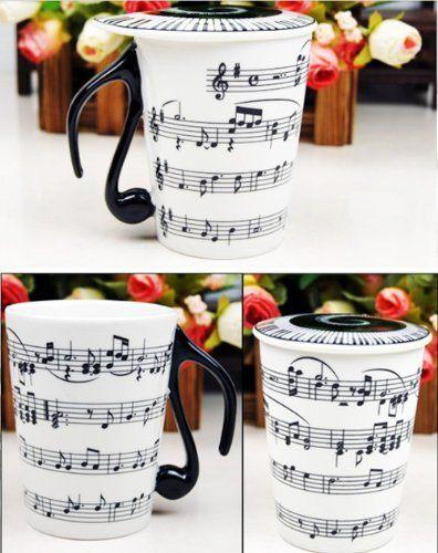 Taza de desayuno con notas musicales mil ideas para regalar for Tazas de te con tapa