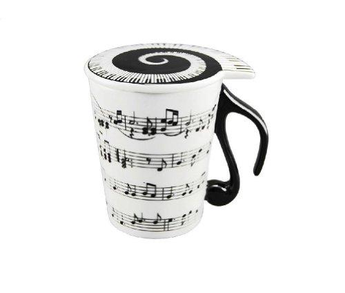 Taza de desayuno con notas musicales mil ideas para regalar for Capacidad taza cafe con leche