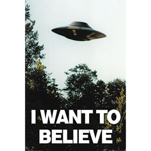 "Póster ""I Want to believe"" de Expediente X"