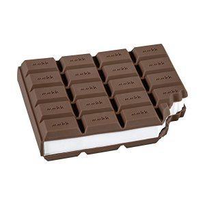Notas adhesivas tipo Post It con diseño de tableta de chocolate