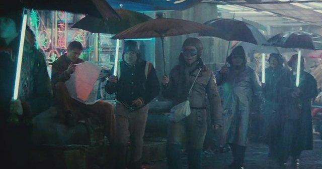 Paraguas con luz Blade Runner