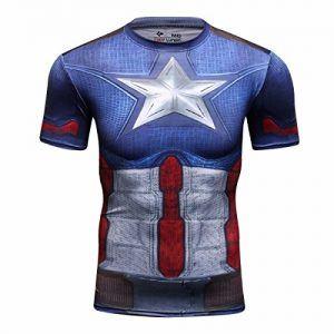 camiseta elástica capitán américa