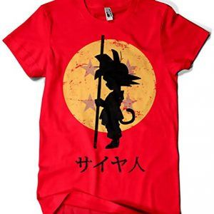 Camiseta silueta de son goku