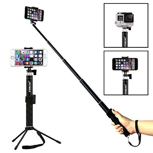 Foneso-Selfie-Stick-Monopie-con-control-remoto-para-SmartphonesNegro-0