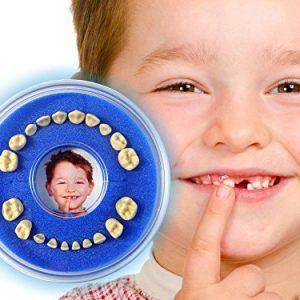 Caja para guardar dientes de leche azul