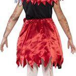 Disfraz de Caperucita Roja zombie para niñas. Vista trasera.