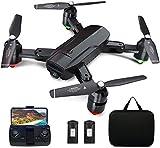 Dragon Touch Drone Plegable GPS con Cámara 1080P HD Avión con WiFi FPV Control Remoto Modo sin Cabeza RC Quadcopter Drone para Niños Principiantes Adultos (DF01G)