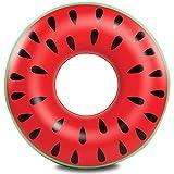 AMACOAM Flotador Inflable Gigante para Piscina de Sandía Flotador Sandía Flotador de la Piscina Inflables Fruto Anillo de Natación Verano El Aire Libre de la Playa Juguetes para Adultos Niño 90cm