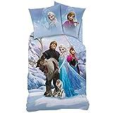 Ropa de cama reversible, de franela, diseño Frozen, modelo 044942. Tamaño: 135x 200cm y 80x 80cm, 100 % algodón, color rosa