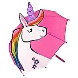 VON LILIENFELD® Paraguas Infantil Unicornio Niños Niñas Ligeramente Estable Colorido Regalo hasta 8 años
