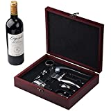 Cooko Abridor de Vino, Abrebotellas Sacacorchos, Set de Accesorios para Vino, 9 Piezas con Caja Regalo