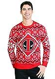 Deadpool Intarsia Logo Adult Knit Ugly Christmas Sweater 2X