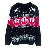 Jersey de Navidad Unisex de Star Wars Que la Fuerza te acompañe: XX-Large