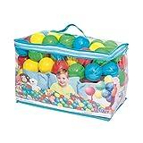 BESTWAY 52027 - Bolas de Colores para Piscina de Bolas Hinchable 100 Unidades de PVC con Bolsa de Transporte 4 Azul, Amarillo, Verde y Rosa Diámetro 6,4 cm