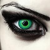 "Designlenses, Dos lentillas de color verde para Cosplay Halloween disfraces duende disfraz lentes sin dioprtías/corregir + gratis caso de lente ""Green Elfe'"