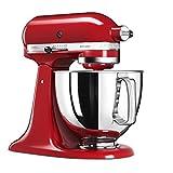 KitchenAid 5KSM125 EER Artisan 5KSM125EER-Robot de Cocina, tazón de 4.8 L, Color Rojo, 300 W, 4.8 litros, 52 Decibelios, Kaiserrot