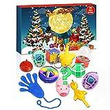 Fidget Calendario Adviento 2021 Sensorial Toys Pop Set, Calendarios de cuenta regresiva Regalos con 24 sorpresas Fidget Pack Toys, Juguete inquieto para aliviar la ansiedad para niños adultos