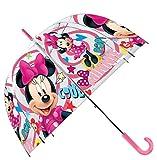 Disney Paraguas Transparente 48cm Campana Manual de Paraguas Clásico, 80 cm, Multicolor