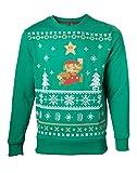 Imp - Jersey Navidad Mario, Color Verde, Talla L