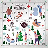 English Tea Shop Calendario de Adviento con imágenes compostables Té navideño y tés de hierbas en caja - 1 x 25 Bolsitas de té (50 gramos)