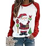 Onsoyours Sudadera Navidad Jersey Arbol Navideño Feo Sudaderas Navideñas Divertido Navidad Ugly Jerseys Navideños Adolescente Chica Sudadera Navideña Talla Grande Sueter Navideño Mujer I Blanco XL