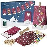 Calendario adviento para rellenar: bonito calendario adviento 2021 con 24 bolsas decorativas y pegatinas de cifras – Calendario adviento para hacer – Calendario adviento LIVAIA