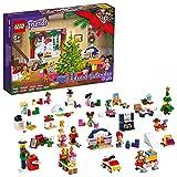 LEGO 41690 Friends: Calendario de Adviento de 2021, Juguete de Navidad para Niños y Niñas con 5 Micro Muñecas