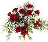 RAMO DE 12 ROSAS rojas NATURALES - ENTREGA EN 24 HORAS - Flores Frescas - Aniversario