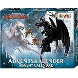 CRAZE Premium Advent Calendar Dragons 24645 Navidad de adviento 2020 3 Cómo Entrenar a tu Dragón Calendario de Juguetes para niños con Contenido Creativo y Grandes sorpresas, Color Play Set