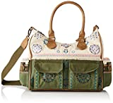 Desigual Fabric Shoulder Bag, Bolso Bandolera. para Mujer, Verde, U