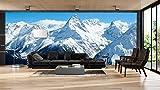 Fotomural Vinilo Pared Montañas Nevadas | Fotomurales Pared | Fotomural Decorativo | Mural | Vinilo Decorativo | Varias Medidas 400 x 300 cm | Decoración comedores Salones | Motivos Paisajisticos
