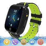 Reloj GPS Niños Smartwatch Phone - Reloj de Pulsera Inteligente con Ubicación GPS LBS Reloj con Call Voice Chat SOS Cámara Niños Cumpleaños (Negro)