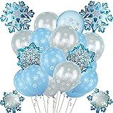 vamei Globo Azul Frozen Cumpleaños Elsa Globos Frozen Cumpleanos Decoracion Globos de látex para Frozen Elsa Artículos de Fiesta Decoración de Nieve