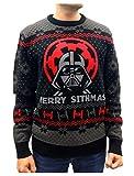 Star Wars Darth Vader Ugly Christmas Suéter Merry Sithmas Jersey de punto multicolor S