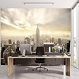 Papel Pintado New York 366 x 254 cm Incluyendo Pegamento Fotomurales Manhattan Skyline Vista 3D Ciudad Paisaje Urbano EE.UU. oficina