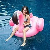 Ardermu Juguetes Gigantes de natación - Balsa Flotante Inflable de la Piscina del Flamenco - Juguete Inflable Flotante Grande de la Piscina al Aire Libre para los Adultos y los niños