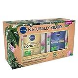 NIVEA Pack Naturally Good Rutina Facial Antiedad, Caja De Regalo Con Crema Reafirmante De Día ( X 50 Ml) Y Crema De Noche Regeneradora ( X 50 Ml), Pack De Mujer, Vanilla