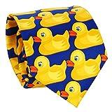 SHIPITNOW Corbata de Patos Azul y Amarillo - Corbata Original - Corbata de Disfraz