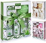 BRUBAKER Cosmetics Set de Baño y Ducha Aloe vera - Juego de 5 piezas para regalo