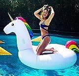 Lady of Luck Flotador Unicornio, Inflable Gigante Unicornio Adecuado para la Familia Usted con Pileta Disfrute de Sus Agradables Vacaciones con su Familia