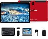 Tablet 10.1 Pulgadas Android 10.0 Tableta Ultra-Portátiles - RAM 4GB   64GB Expandible (Certificación Google gsm) -JUSYEA - Batería de 8000mAh - WiFi —Ratón   Teclado y Otros - Rojo
