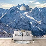 Fotomurales Montaña de nieve 200X140cm Decoración de Pared decorativos Murales moderna de Papel Pintado Sala Living Oficina Dormitorio