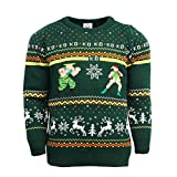 Official Street Fighter Guile vs Cammy Christmas Jumper/Ugly Sweater UK S/US XS