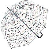 happy rain - Clásico  Mujer Transparente Transparent-bunt 105 cm