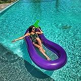 2018 Nuevo Inflable Gigante Flotador Piscina Lounger Del Juguete Del Agua Para Adultos Niños 270X110cm (Berenjena Gigante) Ourdream