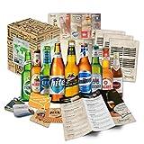 Set de regalo con cervezas extranjeras - Regalo de cumpleaños para novio - regalo de cumpleaños para hombre (9 cervezas exóticas x 0,33l) regalo para hacer una fiesta con papá