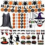 Colmanda Decoraciones de Halloween, 81 Piezas Halloween Decoracion Pancarta Halloween Halloween para Suministros Accesorios Fotográficos para Halloween, Deco Halloween Set